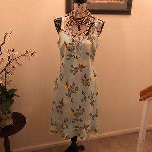 Mint Green Linen Ann Taylor dress - size 8